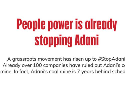 ARRCC Stop Adani Digital Storm